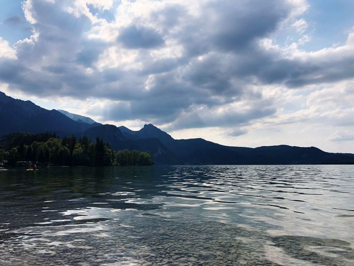 Walchensee💦 Water Sky Cloud - Sky Mountain Beauty In Nature Scenics - Nature Tranquility Tranquil Scene Mountain Range Lake Nature Waterfront Rippled No People Day Non-urban Scene Outdoors Idyllic 17.62°