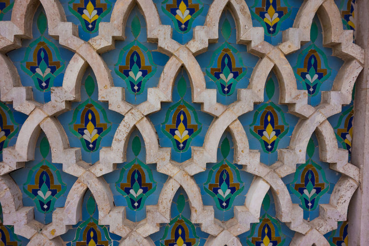 Hassan II Mosque Moroccan Mosaic Mosiac Tiled Abstract Architecture Art And Craft Backgrounds Close-up Day Indoors  Multi Colored No People Place Of Worship Tile Travel Destinations Wood - Material Colour Your Horizn