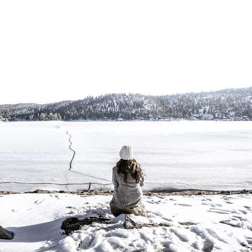 Admiring Big Bear's beautifully frozen lake Escaping Camping Relaxing Big Bear Outdoors Exploring Adventure Snow Frozen First Eyeem Photo