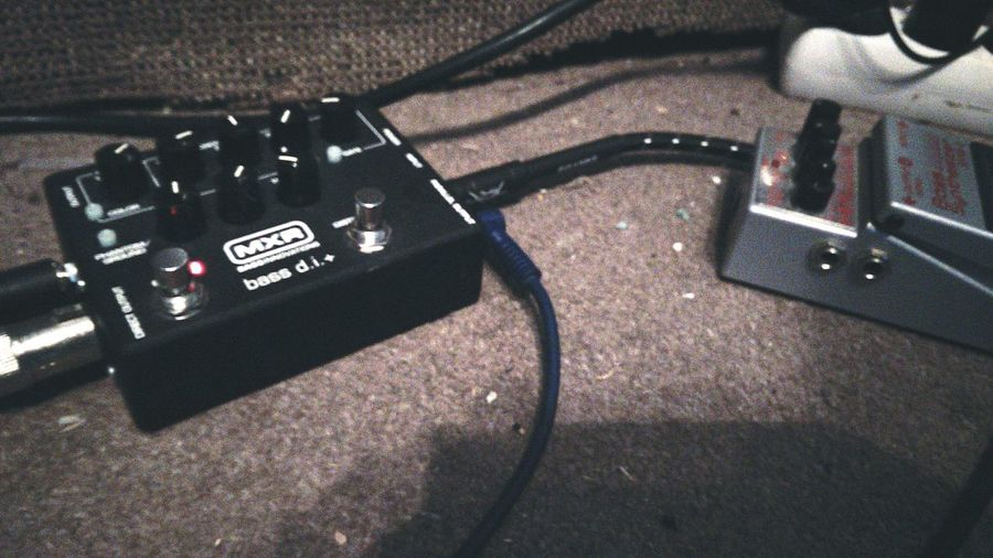 Bass-ic sound Bass Bassist MXR Effects Pedal Distortion Effect Almost Black&white Recording Studio Music Gear