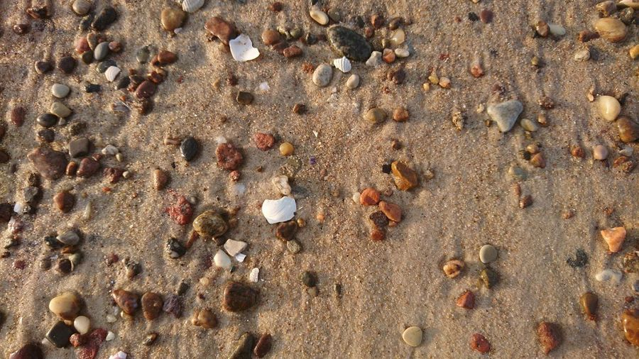 EyeEm Selects Beach Sand Full Frame Backgrounds Day Pattern Outdoors Nature Textured  No People Close-up Stones Under My Feet Nature