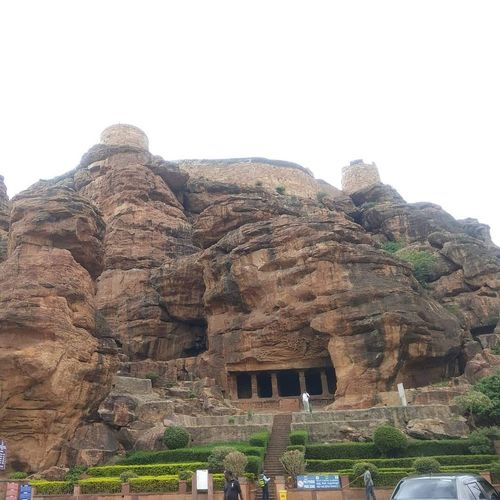 badami cave temple Badami Karnataka India Temple Architecture Karnatakadiaries Cave Photography Cave Caves Photography Ancient Civilization Ancient Tree Old Ruin History Rock - Object Architecture Built Structure