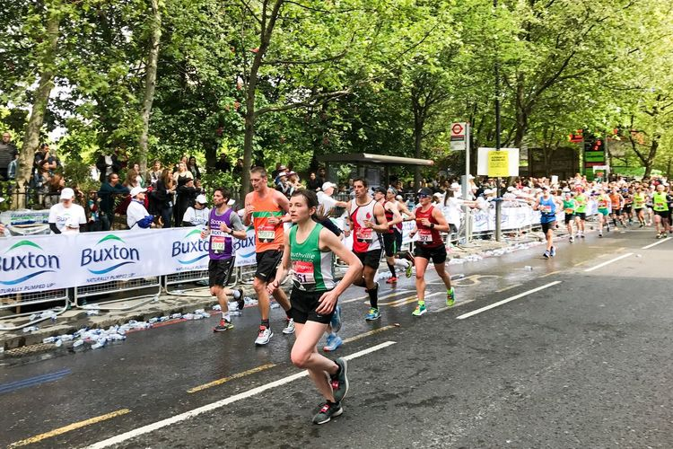 London Marathon 2017 Large Group Of People Runners London Marathon 2017 London London Marathon