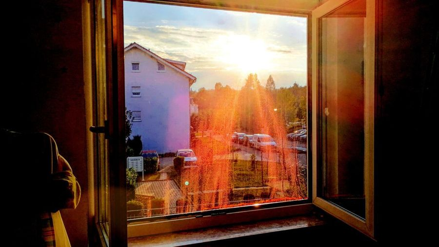 Window Transparent Building Exterior Sunset No People Cloud - Sky From My Point Of View From Where I Stand Out There