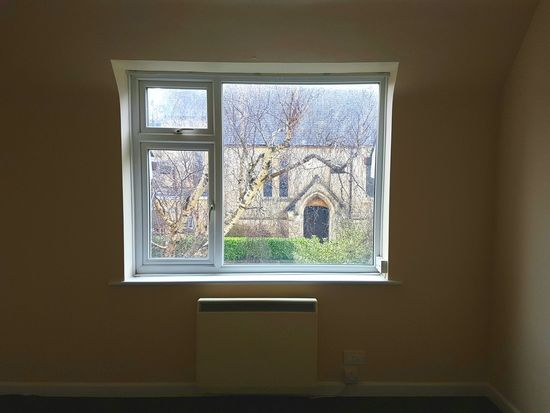 Apartment View Window View Apartment & Church Silver Birch Tree Betula Pendula Church Architecture Inside A Room Looking Through Window Treetop Empty Room St Luke's Church, Parkstone Poole, Dorset England 🌹 Samsung Galaxy S7 No People Interior Photography