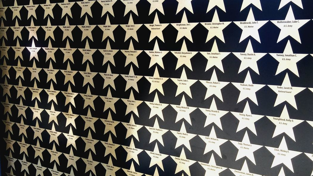Stars on Traveling Tribute Wall.. Dedicated to a Close-up Patterned In The Moment Taking Photos Traveling Wall Bayareaphotography Hayward, Ca. Veterans Memorial Dedicated To The Fallen Soldiers ll the fallen soldiers