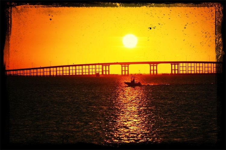sunset on the bay Sunsets South Padre Island