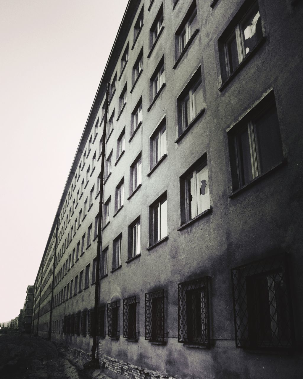 architecture, building exterior, window, built structure, no people, low angle view, day, outdoors, city, sky
