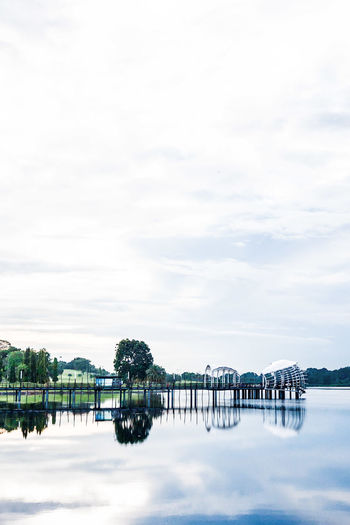 Lower seletar reservoir against sky