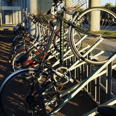 Japan Miyazaki Miyazakiairport Bycicle Bike Parking Daylight