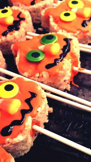 Halloween Treats Food Baking Orange Funny Face