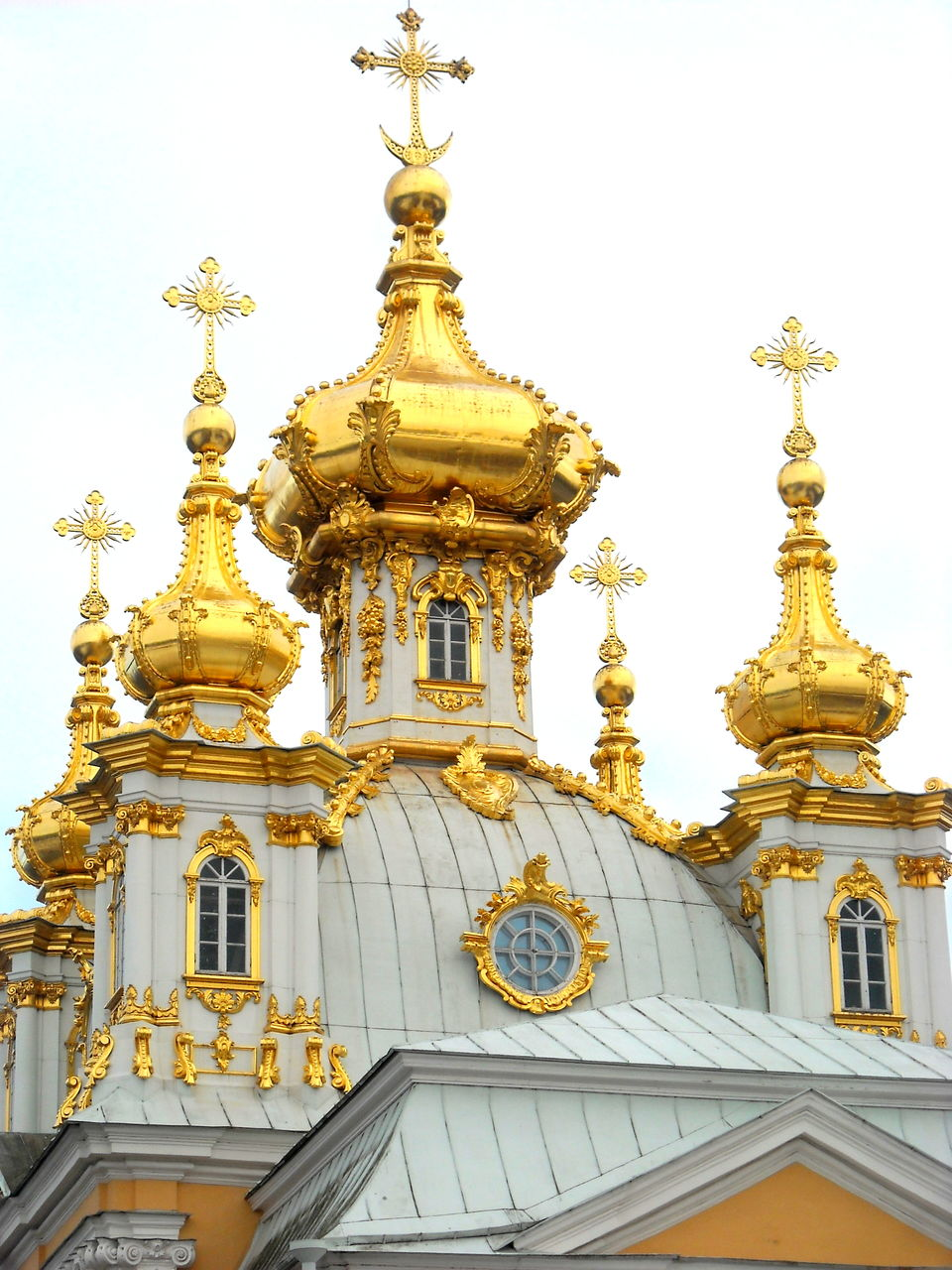 architecture, religion, gold colored, building exterior, spirituality, place of worship, built structure, ornate, gold, no people, low angle view, outdoors, history, travel destinations, dome, sky, day