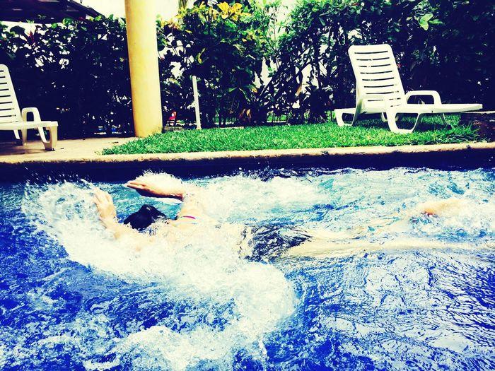 Swimming Enjoying Life