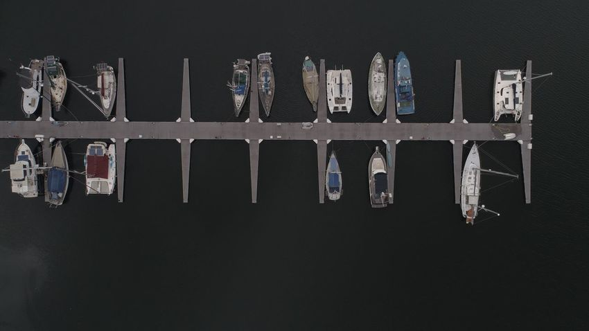Yatchs at dock Yatch Life Yatchclub Yatch Marine Top Down No People Indoors  Side By Side Healthcare And Medicine Architecture Cut Out Metal In A Row Copy Space Built Structure