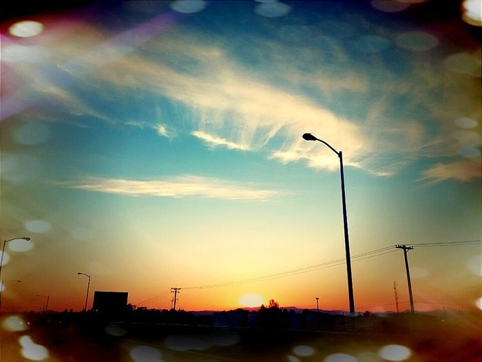 Sunset Street Light No People City Nature Day Sky love the day