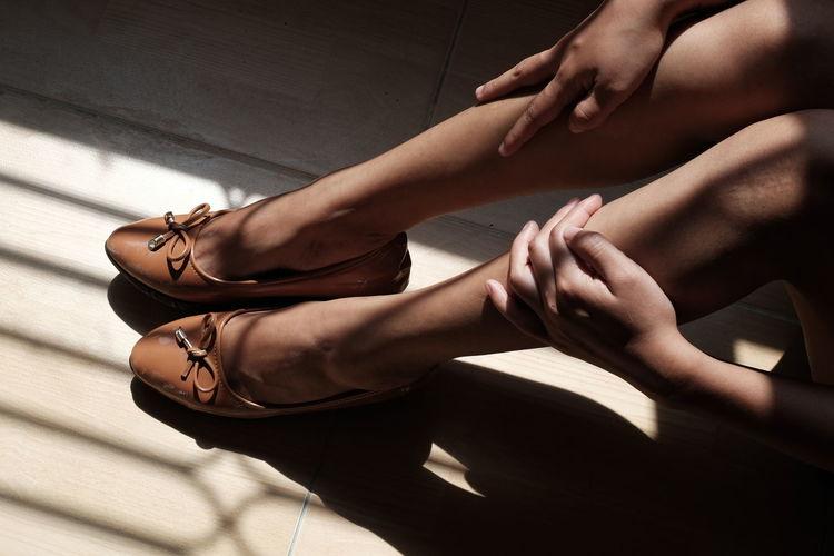 Low Section Young Women Women Human Hand Human Leg Close-up Leg Foot Skin High Heels Human Foot