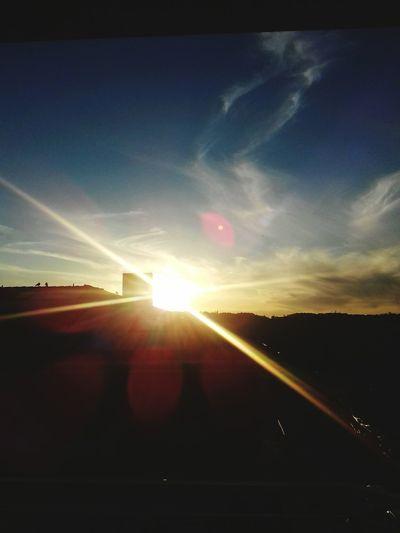 Sunset Sunlight Sun Lens Flare Sunbeam Sky