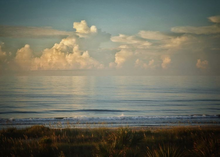 Clouds over the ocean Check This Out Sky Scenics Outdoors Ocean Nature Myrtle Beach SC Landscape_photography Horizon Over Water Landscape Cloud - Sky Cloud Canonphotography Beauty In Nature Beach Canon Sky_collection Canon5Dmk3 Canon_photos