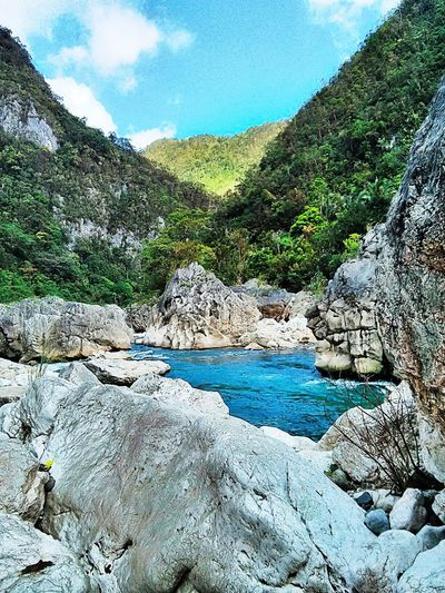 Summer river trek. Landscape Nature Scenics Mountain Beauty In Nature Outdoors Travel Destinations Travel Travel Photography Neighborhood Map The Great Outdoors - 2017 EyeEm Awards Rizal Philippines River Tinipak Daraitan Summer