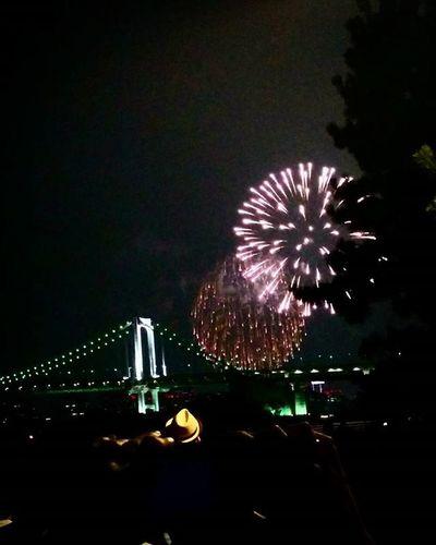 Hanabi Fireworks Siokazekoen Rainbowbridge Odaiba Tokyo