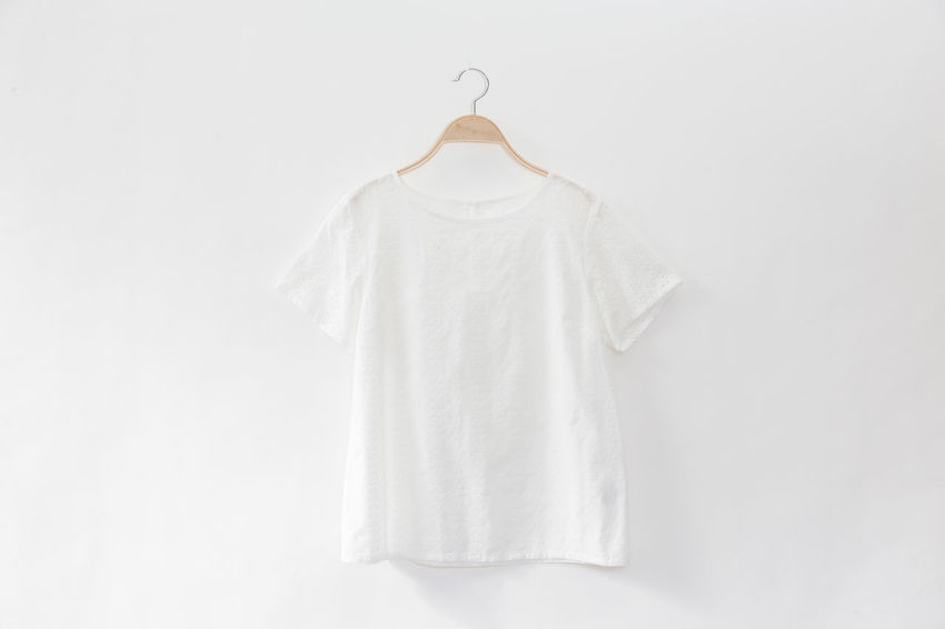 White colour blouse is clothes hanger on white background.close up. Hanger Linen Texture Tailor Textured  Button Down Shirt Cloth Clothes Clothes Hangers Clothing Coathanger Cottage Fashion Female Handmade Hanging Lace Linen Material Textile White White Background White Blouse White Clothes White Lace Women