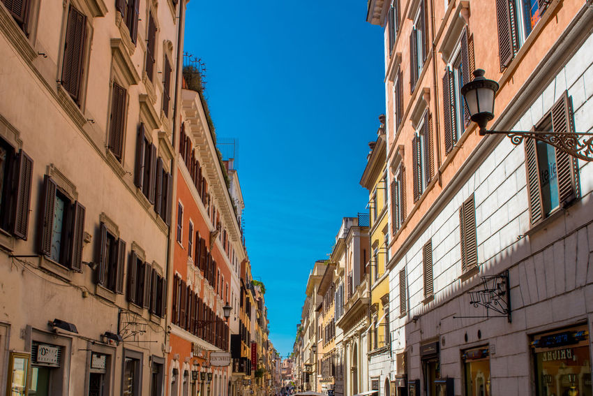 Architecture Architecture_collection Rome Architecture Blue Blue Sky Building Building Exterior Building Exterior Architecture Building Exteriors Buildings Built Structure City Clear Sky Day Italy Low Angle View No People Outdoors Residential Building Rome Italy Sky Window Moving Around Rome