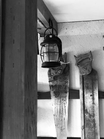 Sheds Findings No People Hanging Indoors  Day Built Structure Hardware Blackandwhite Photography Unique Perspectives Shadow