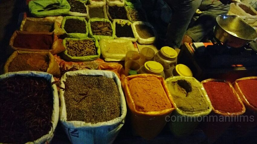Indian Food Ingredient Local Vegitable Market India Nightphotography Spices Taken From Smartphone Camera Moto X Play