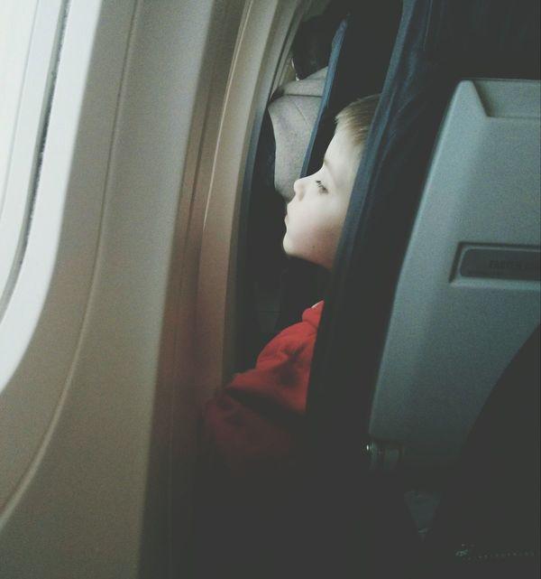 Looking People Kid On The Plane
