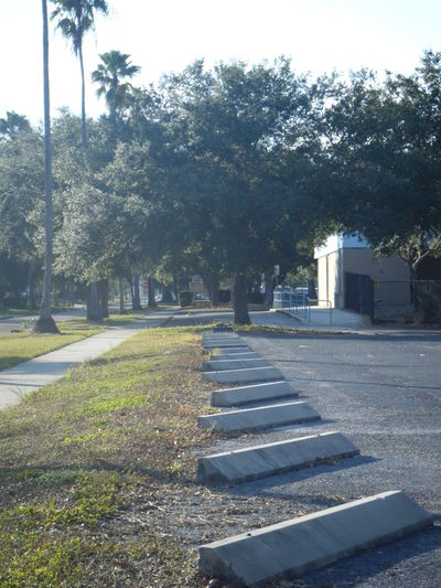 Grass Parking Parking Lot Parking Spots Road