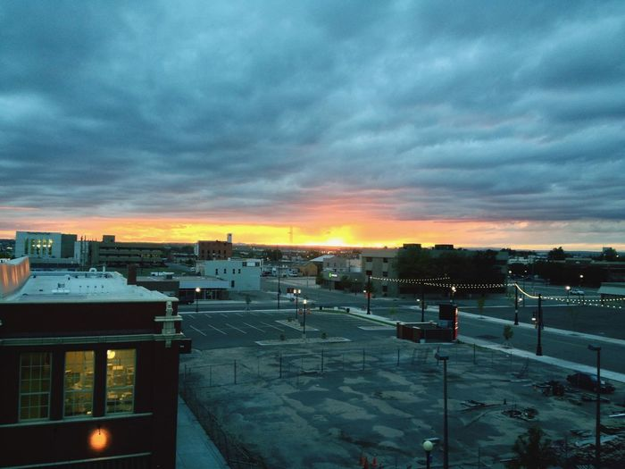 Sunset in Cheyenne. Sky Sunset Building Exterior No People Cityscape City Cloud - Sky Architecture Wyoming