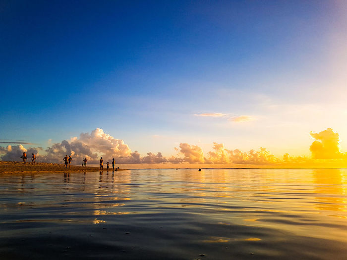 Sunset_collection Water Sunset Beauty Summer Sky Horizon Over Water Calm Ocean Beach Sandy Beach Seascape The Traveler - 2018 EyeEm Awards Capture Tomorrow