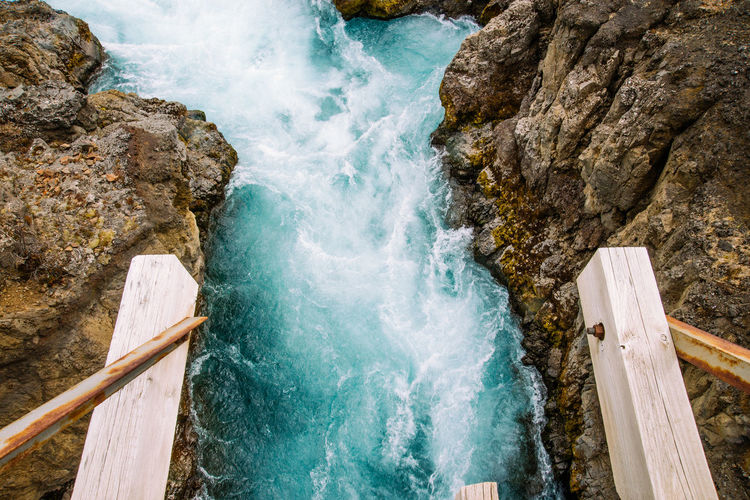 Beauty In Nature Bridge Day High Angle View Iceland Motion Nature No People Outdoors Rock - Object Rush Rushing Water Scenics Tranquility Water EyeEmNewHere