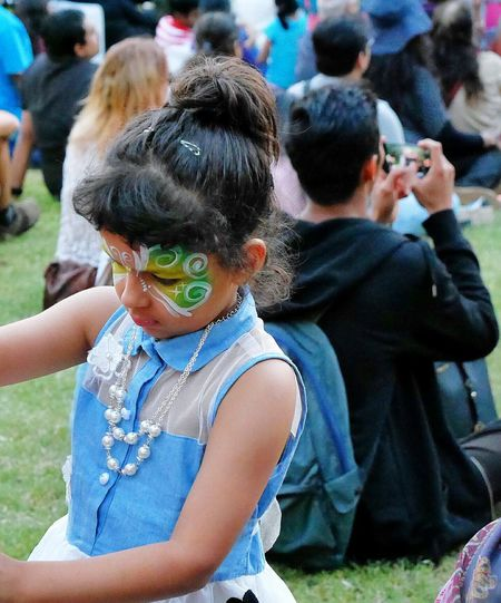 Indian Girl Real People Celebration Face Painting Celebrations Festivities Parramasala Women Around The World