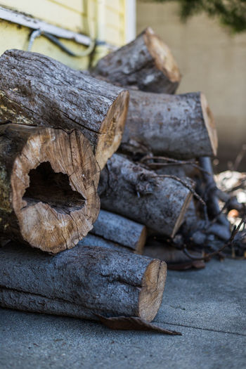 Firewood Backyard Close-up Day Dry Firewood Focus On Foreground House No People Outdoors Shade Shaded Shallow Depth Of Field Stack Of Firewood Wood Wood Logs Wood Texture