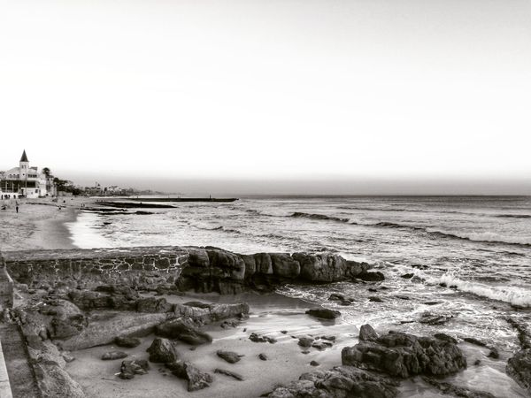 Sea Beach Nature Water Outdoors Beauty In Nature Sunset Portugal Travel Destinations Ocean Waves Day Cascais E Estoril Cascais Estoril Bw_collection Tranquility Sky Relax No People Europe HDR Me
