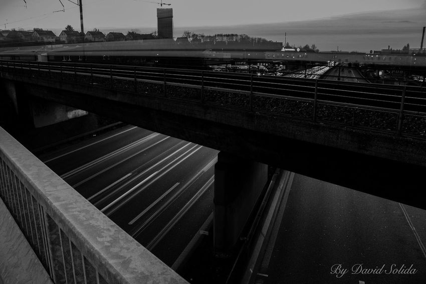 Your only Limit is you! Photography Train Station Canonphotography Black And White Evening