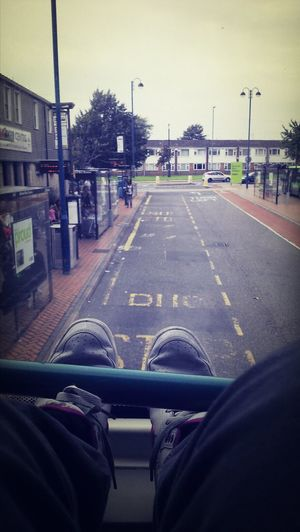 Bus Stop Double Decker Bus Bored Thank god the fat chavs have gone !!!!