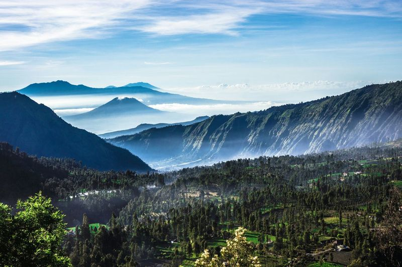 Layer of Nature of Bromo Mount Bromo INDONESIA Beauty In Nature High Angle View Tranquility Landmark Dramatic Sky Landscape Nature Multiple Layerscemoro lawang Fine Art Photography Color Of Life Hidden Gems