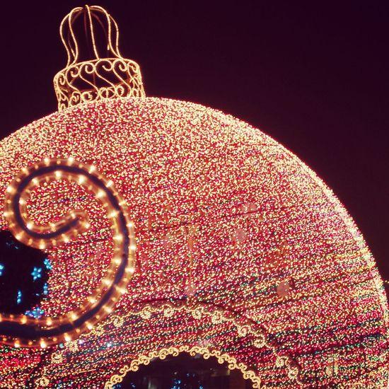 Night Lights Christmas Lights Christmas Hello World