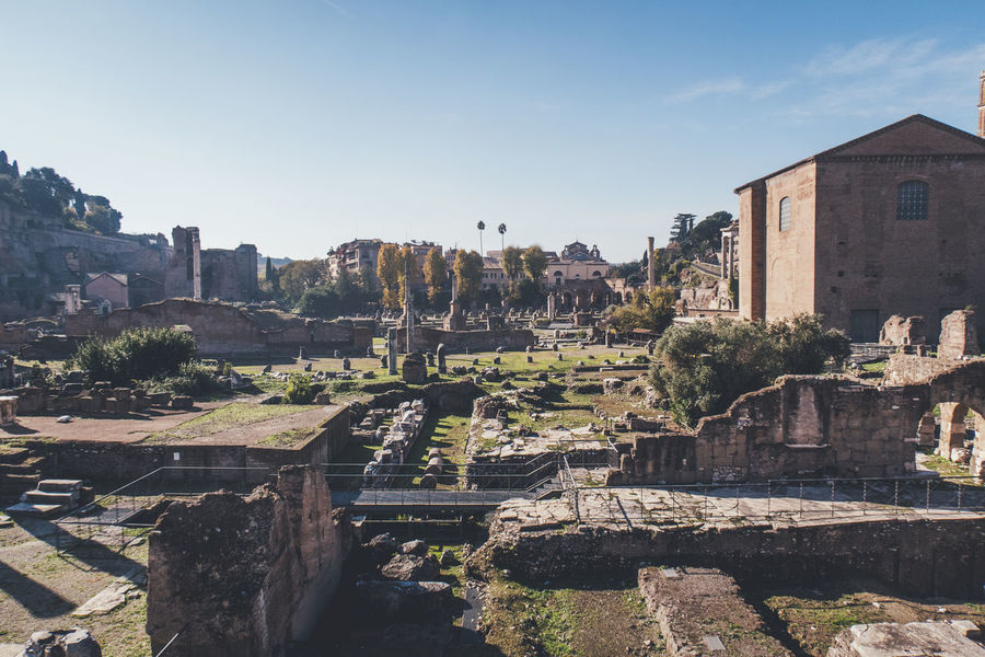 Roma Rome Ancient Ancient Civilization Architecture Building Exterior Built Structure Day History No People Old Ruin Outdoors Sky Sunlight Tourism Travel Destinations
