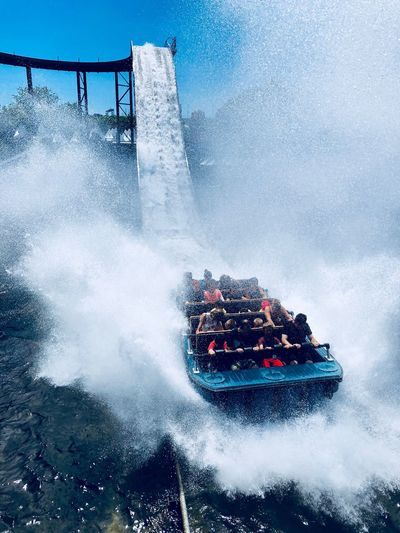 La Ronde Water Motion Transportation Sea Nature Splashing Sport Nautical Vessel Sky People Mode Of Transportation Group Of People Outdoors Spraying Wave Unrecognizable Person Aquatic Sport Architecture Day Power In Nature