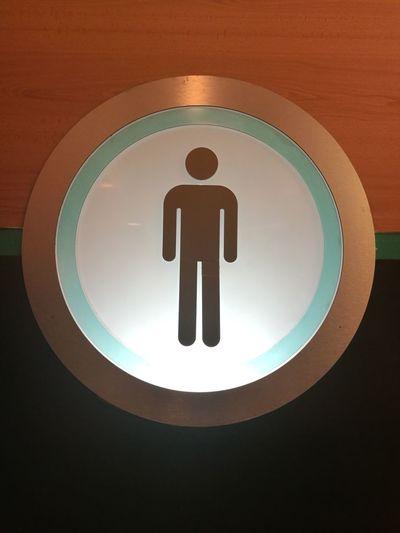Indoors  Circle Man Mens Room Gentlemen Gentleman  Bath Bathroom Art Bathroom Wc Indoors  Mens Door Only Men
