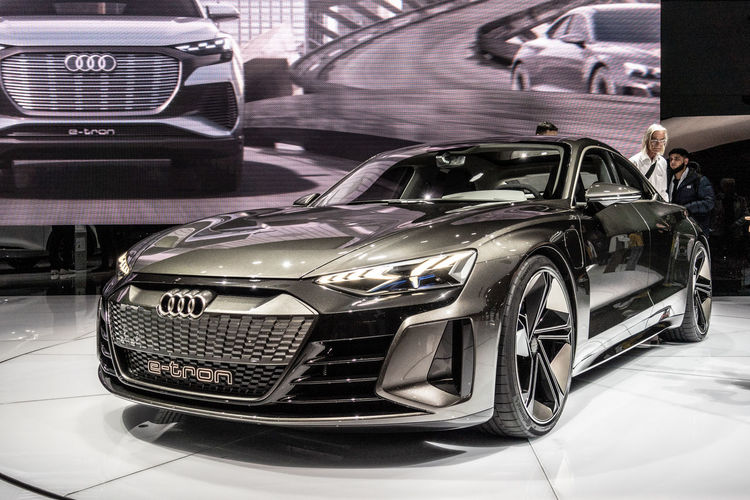 Motor Vehicle Car Mode Of Transportation Transportation Land Vehicle Indoors  Incidental People Metal Luxury Audi E-Tron Geneva GenevaInternationalMotorshow2019 Electric Exhibition