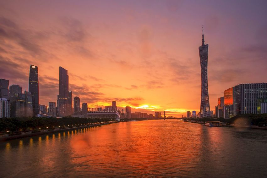 好心情(1) Architecture Building Exterior Built Structure City Sunset Sky Building