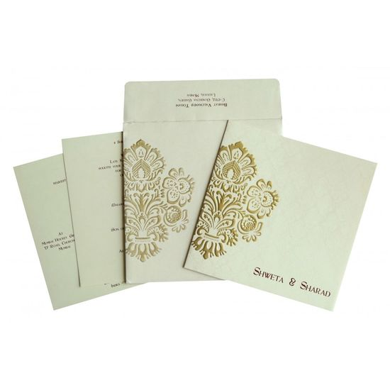 Pick this perfect design of Christian Wedding Invitations with latest and finest pattern. The fascinating wedding invitation designs and shimmer paper artwork is a result of handwork and commitment of our skilled designers and manufacturers. Visit here to buy: https://www.123weddingcards.com/card-detail/C-1697 For More Christian Invites Visit: https://www.123weddingcards.com/christian-wedding-cards-invitations Christian Invitations Christian Wedding Cards Christian Wedding Cards Online Christian Wedding Invitation Cards Christian Wedding Invitations Online Christian Wedding Invitations, Online Christian Wedding Cards Online Christian Wedding Invitations