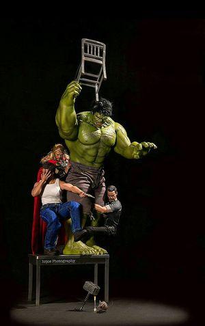 Marvels Comics Escaping Thor  Hulk Marvel The Hulk