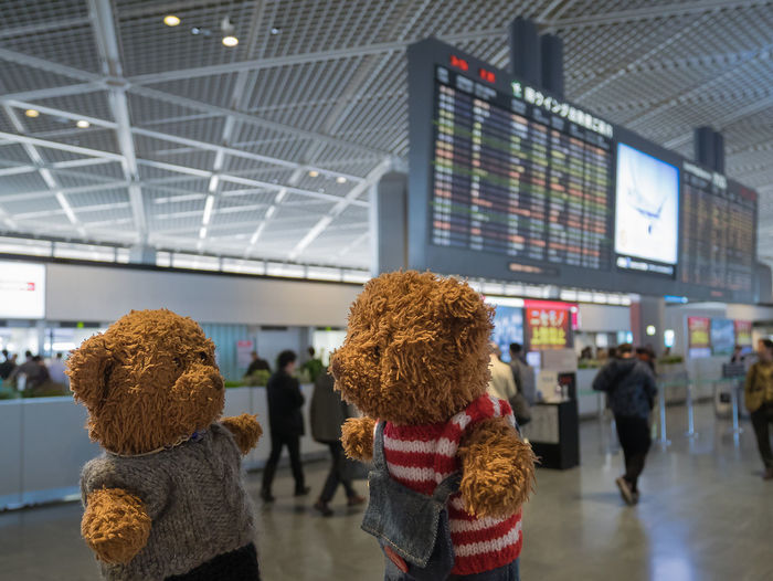 Airport Billy And Johnny Departure Handmade Nrt Scenic Teddybear Tourism