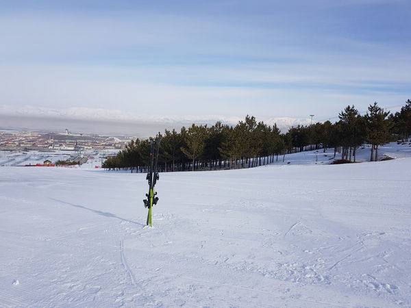 Palandoken mountain, Erzurum, Turkey Erzurum Piste Skiing Snowboarding Cold Temperature Day Landscape Nature No People One Person Outdoors Palandoken People Real People Ski Skis Sky Slope Snow Sport Sway Hotel Tree Vertical Skis View Point Winter