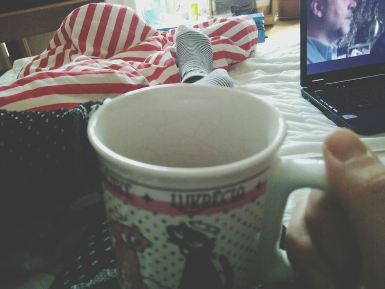 Indoors  Drink Food And Drink Table Real People Close-up Day People One Person Adults Only Adult Morning Morning Coffee Morning Glow Sheets Mug Movıe Socks Hangover Hanging Out Love Yourself